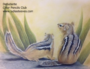 Debutante (light) Colored Pencils Club 2015