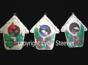 Bird House Ornaments Acrylic e-Packet