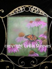 Coneflower and Monarch Butterfly Acrylic e-Packet