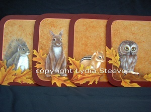 Fall Critters Acrylic e-Packet