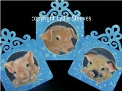 Peace Pigs Acrylic e-Packet