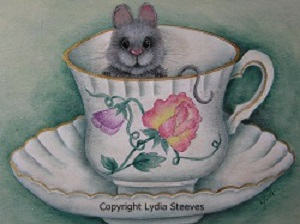 Peek-a-Boo Mouse in a Tea Cup Acrylic e-Packet